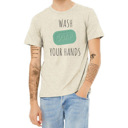 Wash Your Hands, Soap Heather T-shirt Designed By Estore