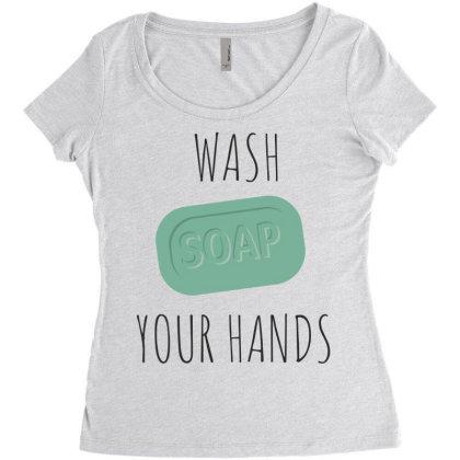 Wash Your Hands, Soap Women's Triblend Scoop T-shirt Designed By Estore