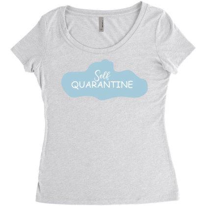 Self Quarantine Women's Triblend Scoop T-shirt Designed By Estore