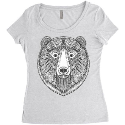 Bear Women's Triblend Scoop T-shirt Designed By Estore