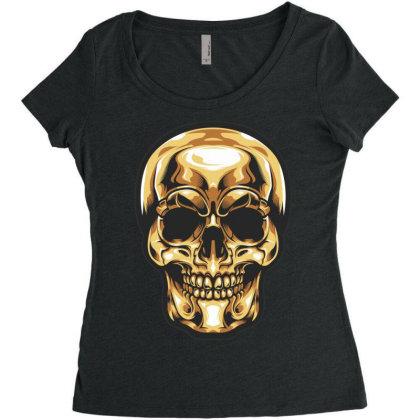 Skull Women's Triblend Scoop T-shirt Designed By Estore