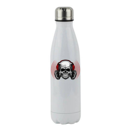 Skull Music Stainless Steel Water Bottle Designed By Estore