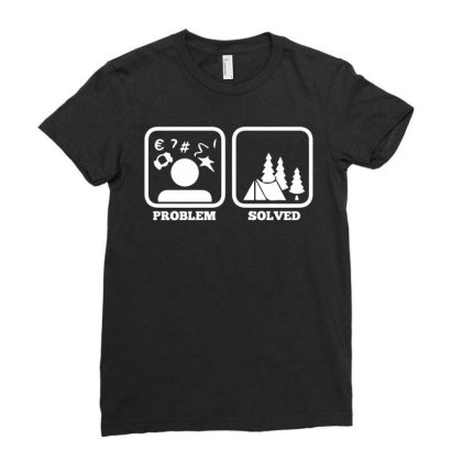 Tent Camping Scouting Gift Idea For Scouts Ladies Fitted T-shirt Designed By Enjang