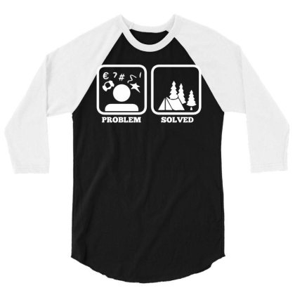 Tent Camping Scouting Gift Idea For Scouts 3/4 Sleeve Shirt Designed By Enjang
