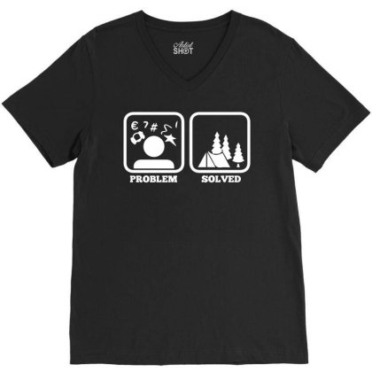 Tent Camping Scouting Gift Idea For Scouts V-neck Tee Designed By Enjang