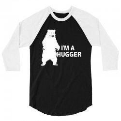 I'm A Huggar 3/4 Sleeve Shirt | Artistshot