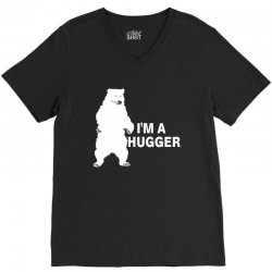 I'm A Huggar V-Neck Tee | Artistshot