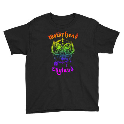 Chain Motorhead Skull Art T Shirt Youth Tee Designed By Bluebubble