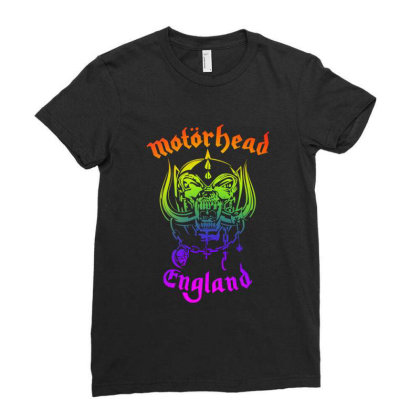 Chain Motorhead Skull Art T Shirt Ladies Fitted T-shirt Designed By Bluebubble