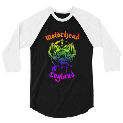 Chain Motorhead Skull Art T Shirt 3/4 Sleeve Shirt Designed By Bluebubble