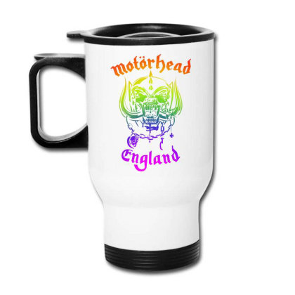 Chain Motorhead Skull Art T Shirt Travel Mug Designed By Bluebubble