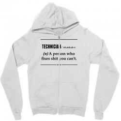 Technician Noun Zipper Hoodie | Artistshot