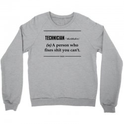 Technician Noun Crewneck Sweatshirt | Artistshot