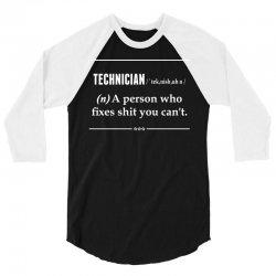 Technician Noun 3/4 Sleeve Shirt | Artistshot