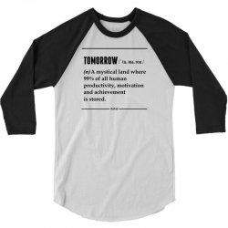 Tomorrow Noun 3/4 Sleeve Shirt   Artistshot