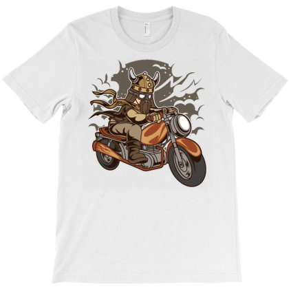 Viking Motorcycle T-shirt Designed By Dhiart