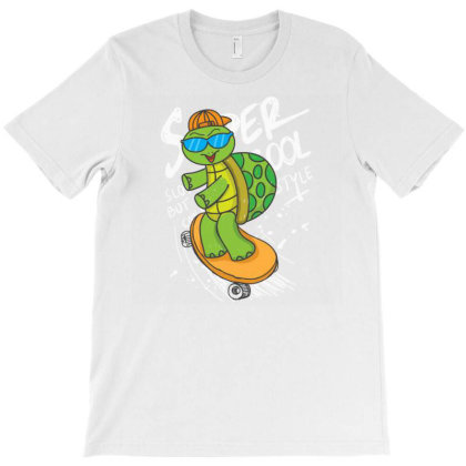 Urtle With Skateboard T-shirt Designed By Dhiart