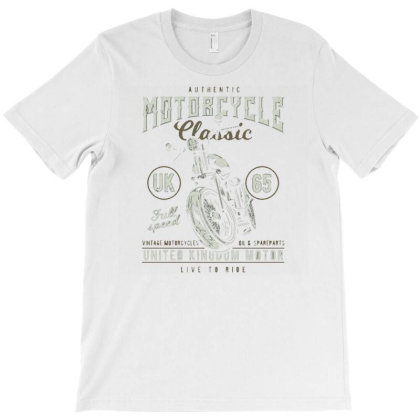 Vintage Motorcycle3 T-shirt Designed By Dhiart