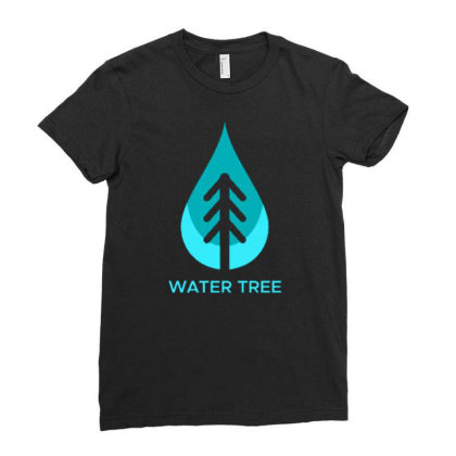 Water Tree Ladies Fitted T-shirt Designed By Dhiart