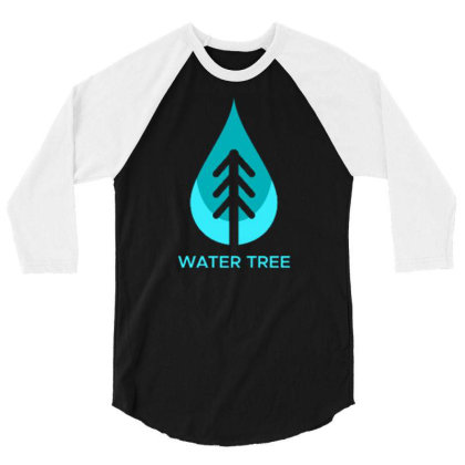 Water Tree 3/4 Sleeve Shirt Designed By Dhiart