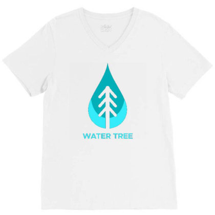 Water Tree V-neck Tee Designed By Dhiart