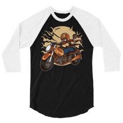 wild biker 3/4 Sleeve Shirt | Artistshot