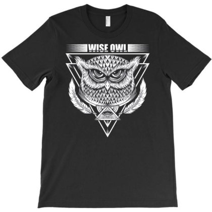 Wise Owl T-shirt Designed By Dhiart