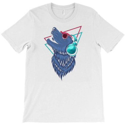 Wolf Headphone1 T-shirt Designed By Dhiart