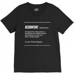 Accountant Noun V-Neck Tee | Artistshot