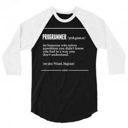 Programmer  Noun 3/4 Sleeve Shirt | Artistshot