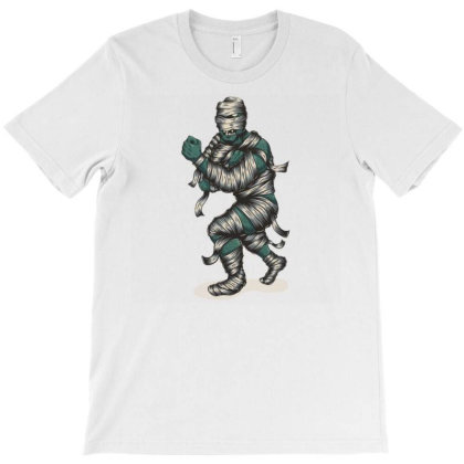 Zombie Mummy Fighter T-shirt Designed By Dhiart