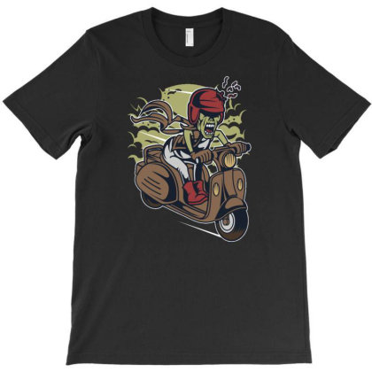 Zombie Scooter T-shirt Designed By Dhiart