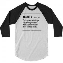 Teacher Noun 3/4 Sleeve Shirt   Artistshot
