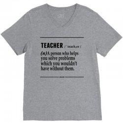 Teacher Noun V-Neck Tee   Artistshot