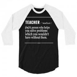 Teacher Noun 3/4 Sleeve Shirt | Artistshot