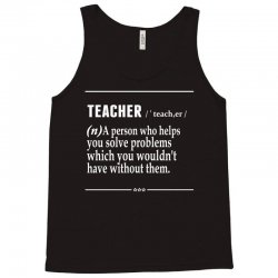 Teacher Noun Tank Top | Artistshot