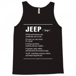 Jeep Noun Tank Top   Artistshot