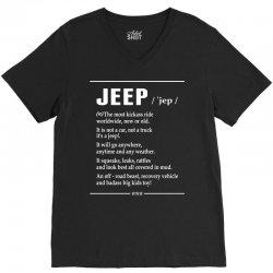 Jeep Noun V-Neck Tee   Artistshot