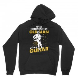 Never Underestimate An Old Man With A Guitar Unisex Hoodie   Artistshot