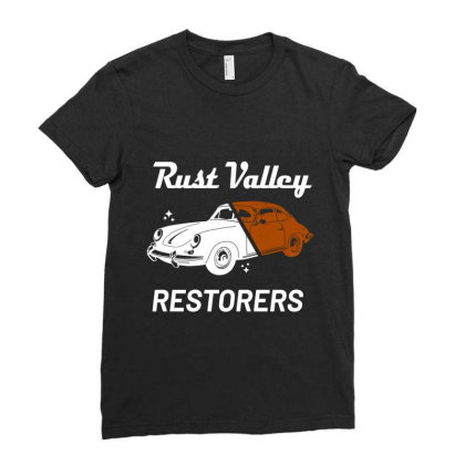 Rust Valley Restorers Essential T Shirt Ladies Fitted T-shirt Designed By Bluebubble