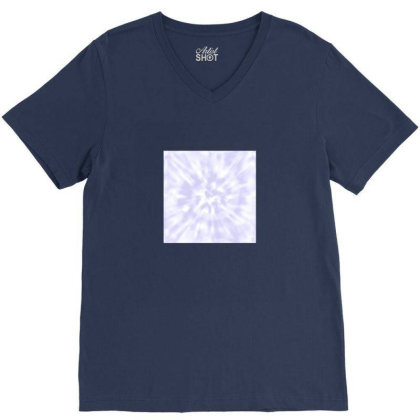 Lilac Tie Dye V-neck Tee Designed By Ariee