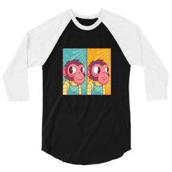 funny monkey meme monkeys gift 3/4 Sleeve Shirt | Artistshot