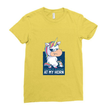 Funny Unicorn Gift Unicorns Ladies Fitted T-shirt Designed By Blackstone