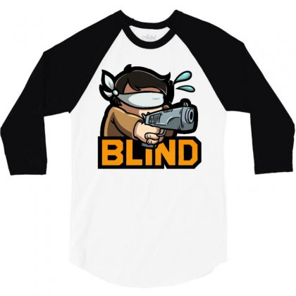 Actiblind 3/4 Sleeve Shirt Designed By Mdk Art