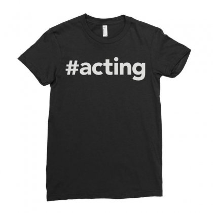 Acting Ladies Fitted T-shirt Designed By Mdk Art