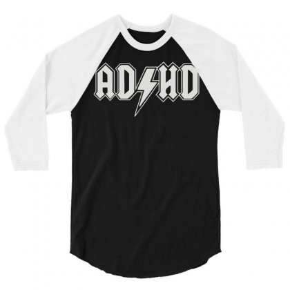 Adhd 3/4 Sleeve Shirt Designed By Mdk Art