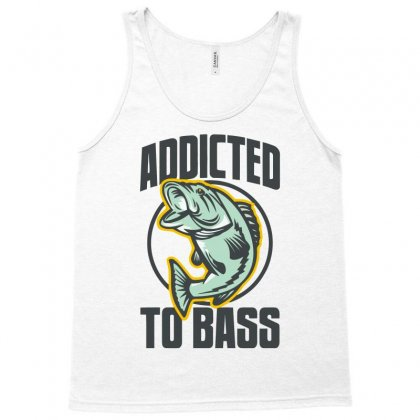 Addicted To Bass Fish Fishing Tank Top Designed By Mdk Art