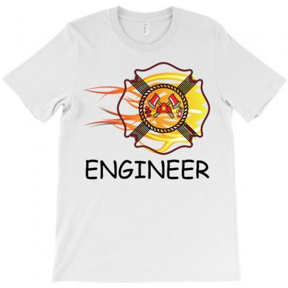 Fire Department Engineer T-shirt Designed By Sabriacar