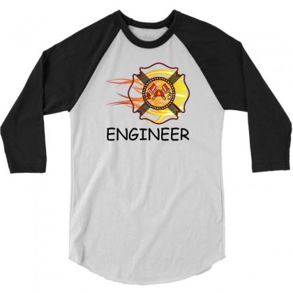 Fire Department Engineer 3/4 Sleeve Shirt Designed By Sabriacar