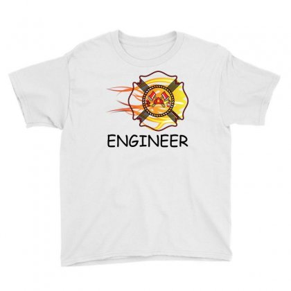 Fire Department Engineer Youth Tee Designed By Sabriacar